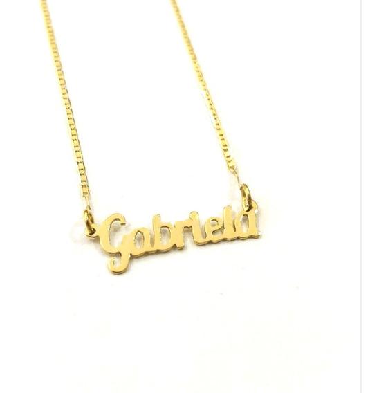 Cordão De Ouro 18k Piastrine Com Nome Personalizado