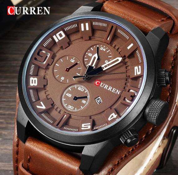 Relógio Original Em Couro 8225 Watch Curren