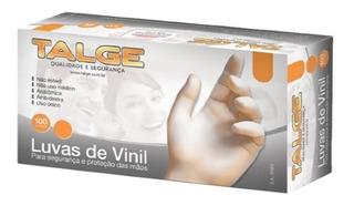 Luva Proced Vinil Talge Tam P C/ Pó Cx C/10 Cart