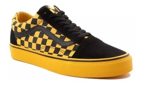 Tenis Vans Mod. 497354 Old Skool Chex Skate Yellow Unisex/ J