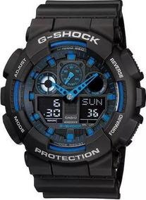 Relógio Masculino Casio G-shock Ga-100-1a2dr Na Caixa + Manu