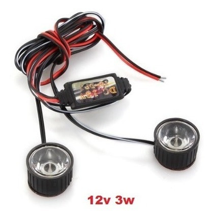 Kit Mini Strobo Led 3w 12v Carro Motos, Barco Rc..etc.