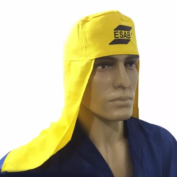 Touca De Soldador Tipo Árabe Amarela Kit 04 Pc Original Esab