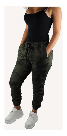 Calça Jeans Feminina Jogger C Punho Elástico Moda Top 2019