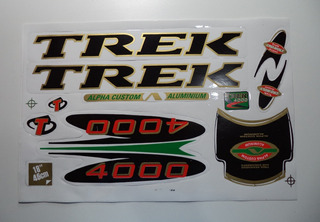 Adesivo Para Bicicleta Trek 400 Frete Grátis Preto