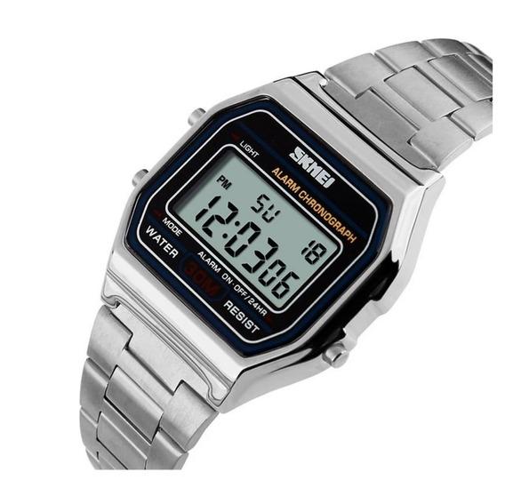 Relógio Unisex Skmei 1123 Digital Retrô Original 12x S/juros