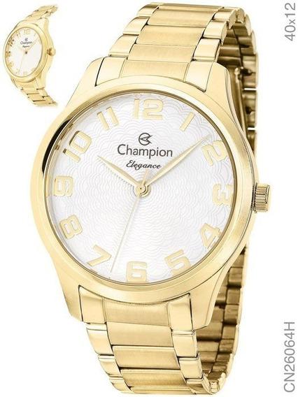 Relógio Champion Feminino Analógico Dourado Cn26064h