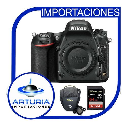 Nikon D750 Sólo Cuerpo Incluye Memoria 64gb + Bolso