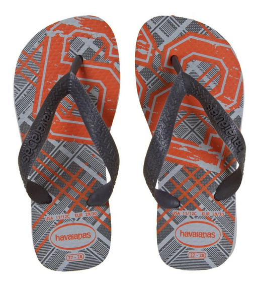 Ojotas Havaianas Athletic Original Cinza Preto 25 Al 30 Kids