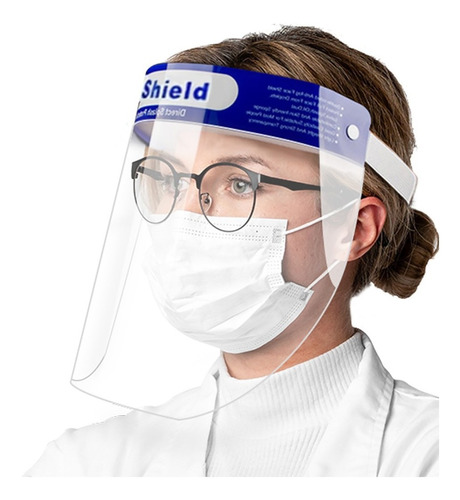 Careta Protector Face Shield Original Lavable Calibre 25