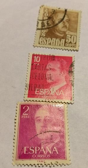 Juego De Estampillas Antiguas Españolas