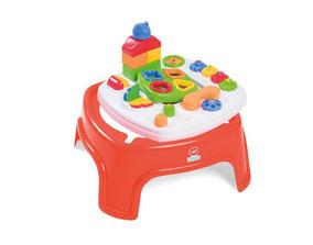 Mesinha Didática Infantil Bebê Com Blocos Calesita 800 + Nfe