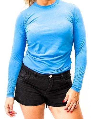 2 Camisa Feminina Proteçao Uv Fator 50 + 2 Manguito Uv 50
