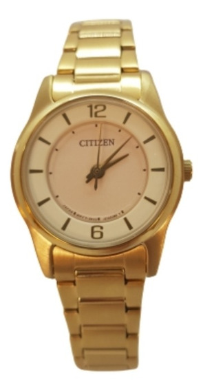 Relógio Feminino Dourado Quartzo Citizen