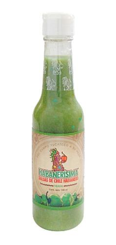 24 Pzas Salsa De Chile Habanero Habanerísima Verde De 148 Ml