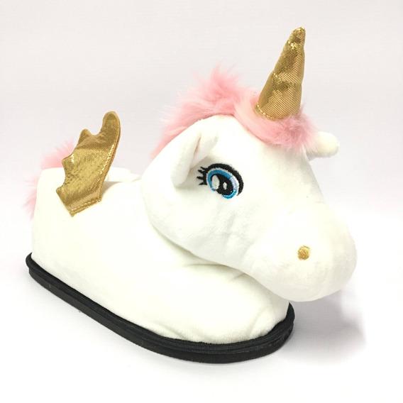 Pantuflas Unicornio Peluche Dash Cool Pink Nena Abrigo