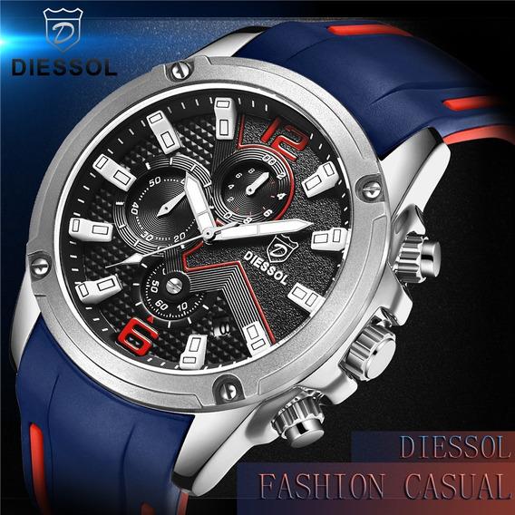 Relógio Pulso - Diessol - Multi Funcional - 45mm - Hardlex