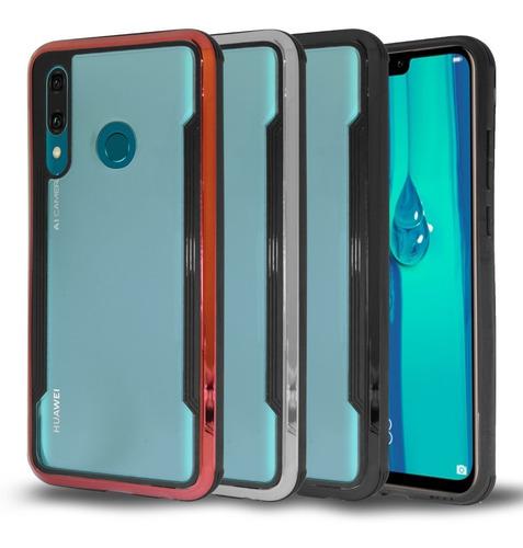 Imagen 1 de 8 de Funda Huawei Y6 Y7 Y9 P Smart 2019 Bumper Acrilico + Cristal