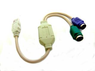 Cable Adaptador Usb A Ps/2 Convertidor Teclado Mouse Pc