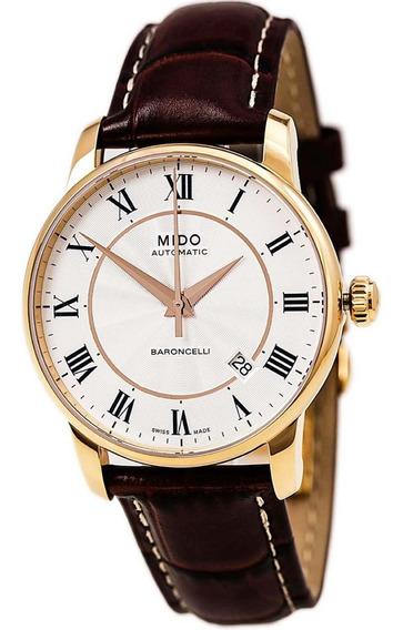 Relógio Mido Baroncelli M86002218 Automatico 38mm Rose Gold