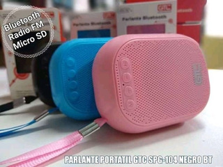 Mini Parlante Portatil Gtc Spg-104 Rosa Bluetooth