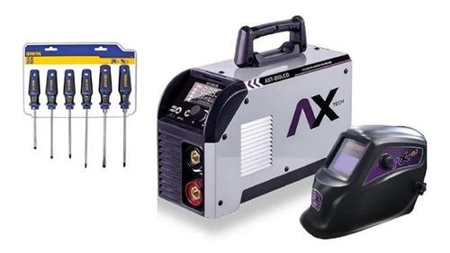 Axt-202lcd 200a 110/220 Soldador Inversor + Juego Desarmador