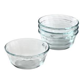 Set 4 Compoteras Flaneros Bowls Vidrio Pyrex Basics Cuenco Para Postres Dips Picadas Aptos Horno Microondas 300ml Cuotas