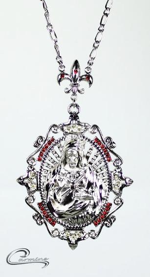 Colar De Cristo, Rhodium, Joia,10 Camadas Ouro 18k, Presente