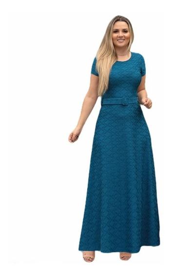 Vestido Evangélico Feminino Longo Barato Midi Rodado Gode
