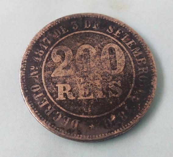 Moeda Antiga De 200 Reis 32mm Vendida No Estado Veja Fotos