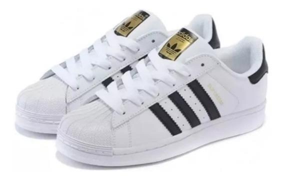 Tênis adidas Superstar Preto E Branco Clássico Original
