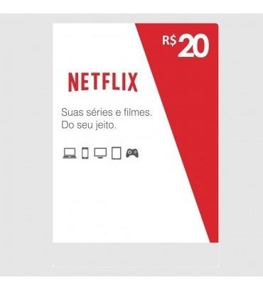 Cartão Pré-pago Presente Netflix R$20,00 ((envio Imediato))