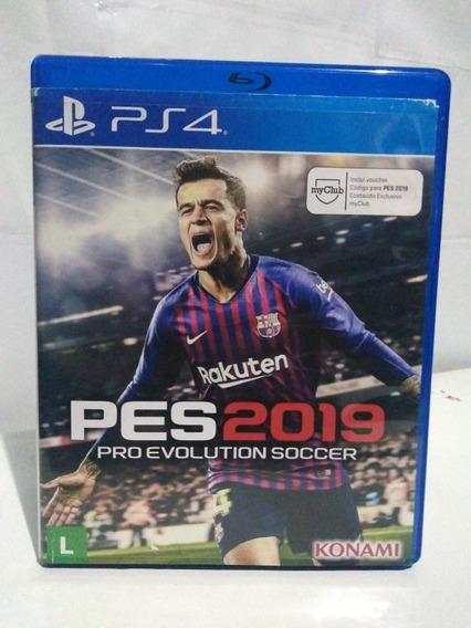 Jogo Pes 2019 Pro Evolution Soccer Ps4 Mídia Física R$69,90
