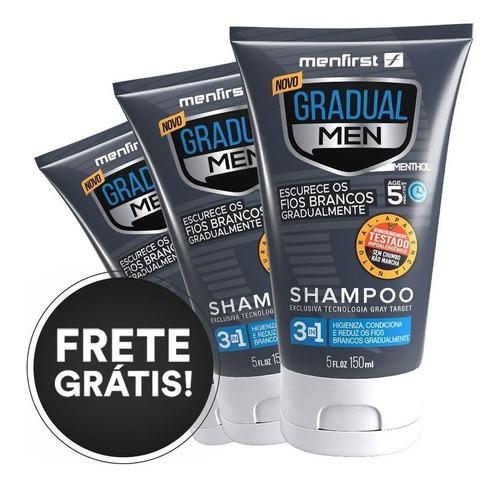 Imagem 1 de 8 de Shampoo Gradual Men Escurecedor Original Menfirst X3