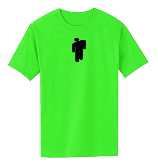 Remera Billie Eilish Verde Neon Blohsh Logo
