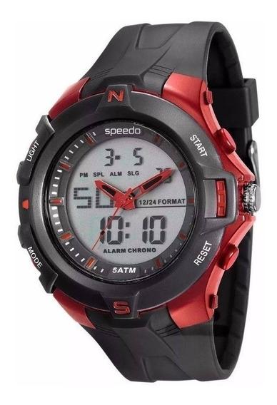 Relógio Esportivo Anadigi Speedo Wr50 Grande 52mm Crono Luz