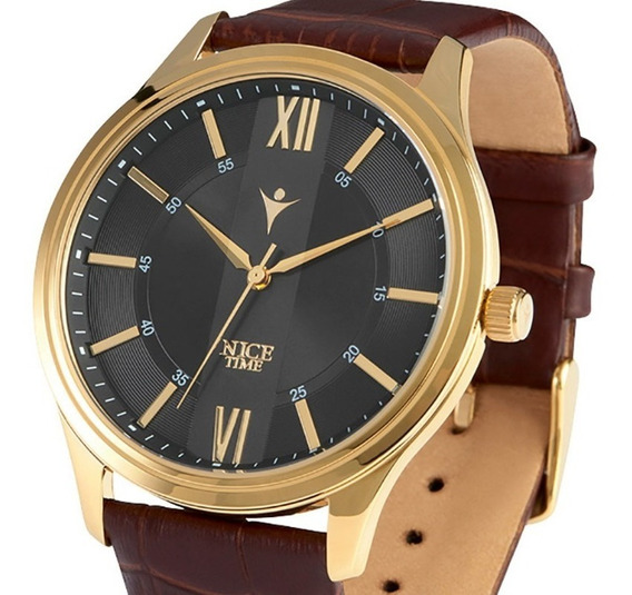 Reloj Para Caballero Con 4 Baños De Oro De 18k