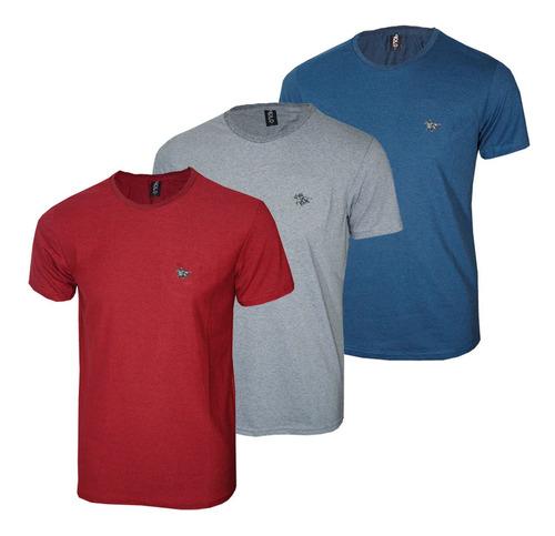 Imagem 1 de 4 de Kit Camiseta Masculina Com Cavalo Metalizado