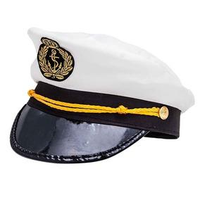 Chapeu Marinheiro Capitao Fantasia Festa Cosplay Branco
