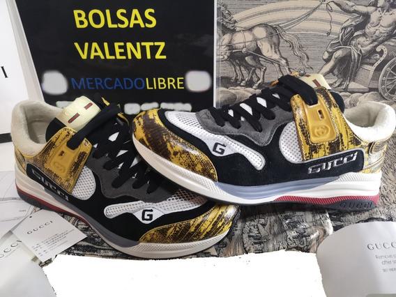 Tenis Gucci Ultrapace Sneakers En Caja Factura Gg Cc Lv