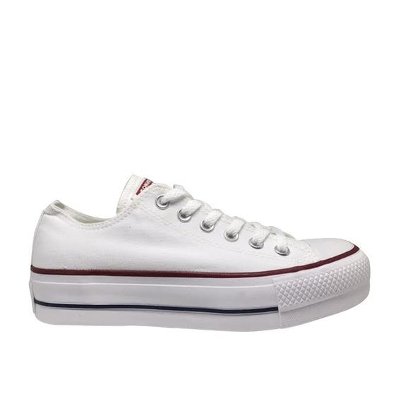 Tênis Converse Chuck Taylor All Star Platform- Branco/branco