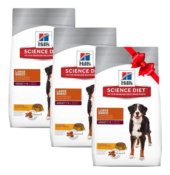 3 X 2 Alimento Perro Adulto Grande Bolsa 15kg Hill