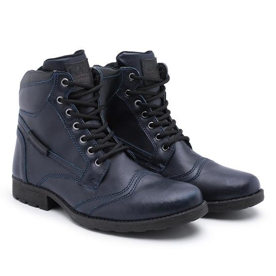 Bota Masculina Sapato Coturno Casual Super Leve