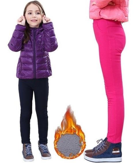 Leggins Mono Termico Tela Gruesa Invierno Niños Unisex