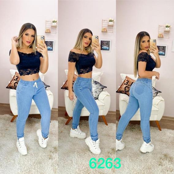 Kit 4 Calças Jeans Feminina Cintura Alta