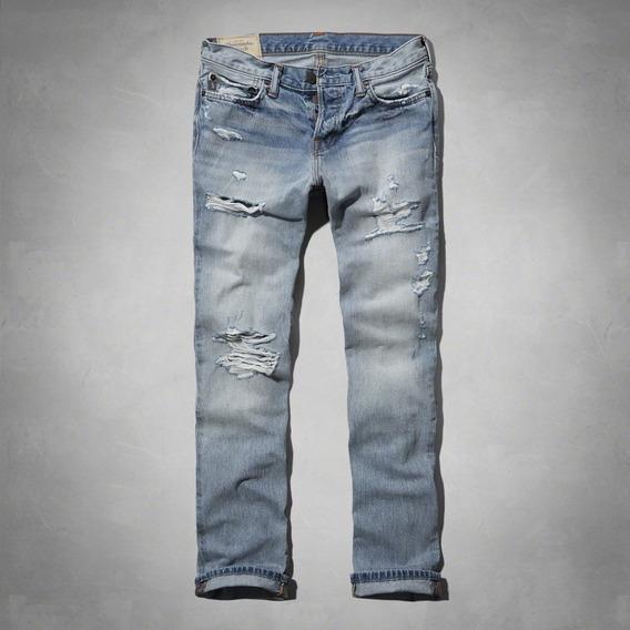 Abercrombie Remate Jeans Slim Straight Nuevos Originales