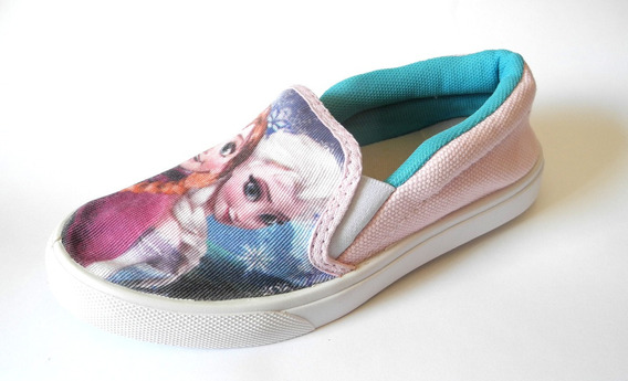 Tenis Sapato Iate Frozen Menina Infantil Elsa Anna Elza Slip Sem Cadarço Barato Promoção