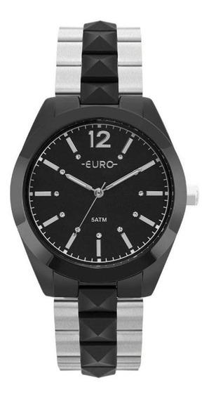 Relógio Euro Feminino Metal Glam Preto - Eu2036ymn/4p