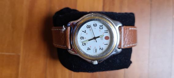 Relógio De Pulso Swiss Army Pulseira De Couro