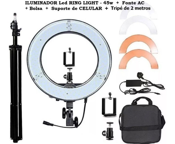Iluminador Ring Led Light Rl-12 + Bolsa + Suporte